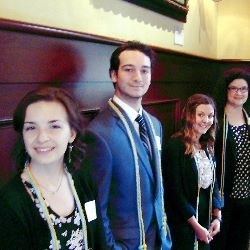 student inductees: Pi Alpha Alpha Honor Society